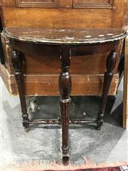 Sale 8787 - Lot 1063 - Small Demilune Side Table