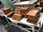 Sale 8854 - Lot 1095 - Collection Of Timber Desk Tidys