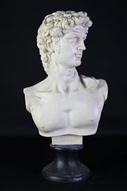 Sale 8905S - Lot 611 - A composite bust of David. Height 54cm