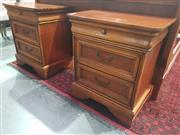 Sale 8934 - Lot 1016 - Pair of Victorian Style Bedside Chests (H: 69 W: 61 D: 43.5cm)