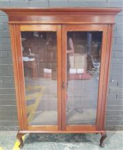 Sale 8959 - Lot 1004 - Timber Display Cabinet With Two Glass Doors (H:167 x W:122 x D38cm)