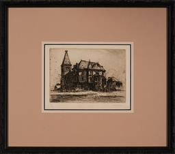 Sale 9159 - Lot 2031A - WILL ASHTON (1881 - 1963) Newington drypoint etching, 14/50 15 x 21 cm (frame: 43 x 49 x 2 cm) signed lower right