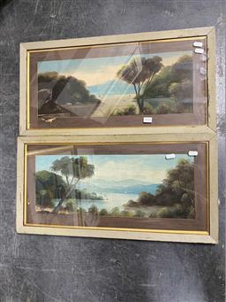 Sale 9176 - Lot 2036 - Edward Davies (1852 - 1927) (2 works) Hawkesbury River Scenes oil on board, 19 x 49.5 cm (each), signed and titled -