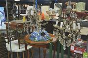 Sale 8302 - Lot 1076 - Qty of Glass Hanging Light Fittings