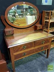 Sale 8545 - Lot 1014 - Mirrored Back Dressing Table
