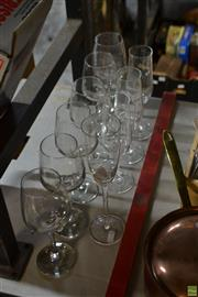 Sale 8563T - Lot 2338 - Assorted Wine Glasses and Champagne Flutes