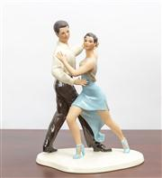 Sale 8774A - Lot 126 - A Lennox China figural group of salsa dancers H x 24cm with box