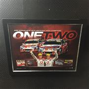 Sale 8805A - Lot 865 - Team Vodaphone, One Two, Supercheap Auto Bathurst 1000 Champions 2010, Limited Edition 379 of 1000, framed