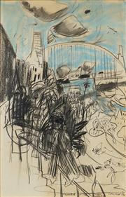 Sale 8830 - Lot 548 - Kevin Connor (1932 - ) - Figure in the Sunny Morning, 1976 100 x 65cm