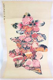Sale 8849P - Lot 677 - Chinese Scroll of Flowers