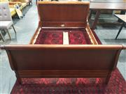 Sale 8934 - Lot 1017 - Timber Queen Sized Sleigh Bed