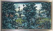 Sale 9028 - Lot 2075 - W Rana, Country Landscape - Ubud, acrylic on canvas on board, 88 x 149cm (frame), signed lower left