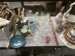 Sale 9101 - Lot 2398 - Collection of Sundries inc Glassware, Ceramics and Silver Plated Wares