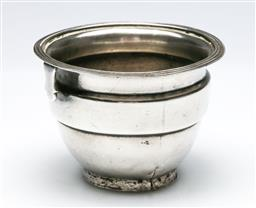 Sale 9164 - Lot 174 - A George III sterling silver wine funnel c1810, as inspected with repair and missing bottom insert