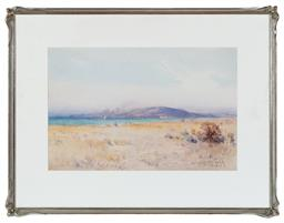 Sale 9190H - Lot 336 - Arthur Boyd SeniorFigures at Beach, Watercolour, 28x44cmsigned & dated 1923 lower right.