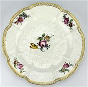 Sale 8130 - Lot 46 - Höchst 18th Century Moulded Plate