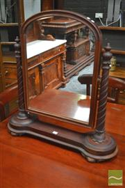Sale 8282 - Lot 1029 - Victorian Mahogany Toilet Mirror, on spiral supports