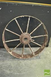 Sale 8392 - Lot 1001 - Metal Wagon Wheel