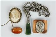 Sale 8422 - Lot 34 - Cameo Brooch with Other Jewellery incl. Sterling Silver Chained Necklace