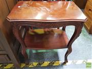 Sale 8447 - Lot 1063 - Carved Tiered Side Table (H 60.5cm x L 52cm x W 35.5cm)