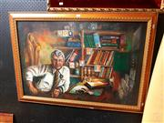 Sale 8682 - Lot 2072 - Arthur Torr - Portrait of Dr. Ross Harvey oil on board, 72 x 102cm signed lower right