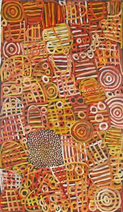 Sale 8764 - Lot 572 - Betty Mbitjana (1955 - ) - Anwekety 150 x 90cm (stretched and ready to hang)
