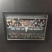 Sale 8805A - Lot 814 - New Zealand Kiwis, On Top of The World, Rugby League World Cup Champion 2008, Limited Edition 12 of 100, framed