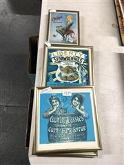 Sale 8797 - Lot 2139 - 4 Framed Advertising Signs Country Lassies Corn and Cane Syrup & Poydras Market: Roasted Coffee and Chicory