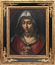 Sale 8813 - Lot 550 - Attributed to Cesare Dandini (c1595-1658) - Madonna 43 x 34cm