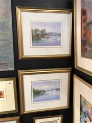 Sale 8856 - Lot 2008 - John Biasetto (2 works)  Views from Greenwich Pt. & Lane Cove oil paintings, each 53 x 61cm (frame) and signed
