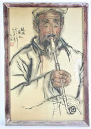 Sale 8869C - Lot 653 - A Framed Print of A Chinese Man Smoking A Pipe (41cm x 60cm)