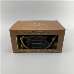 Sale 9079W - Lot 887 - McGibbons Premium Reserve - The Club Blended Scotch Whisky - 43% ABV, 500ml novety decanter in box. Small batch bottling. Matured...