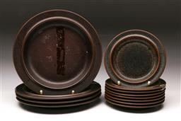 Sale 9110 - Lot 360 - Small Collection of Arabia Ware inc 8 side plates and 4 Dinner Plates