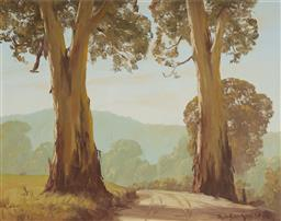 Sale 9139 - Lot 2045 - Theo Delgrosso (1947 - c2011) - Majestic Gums & Country Track 62 x 71 cm