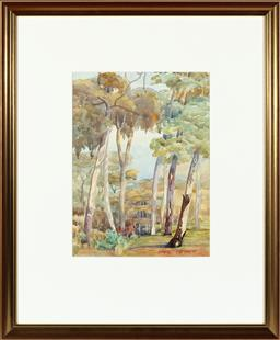 Sale 9190H - Lot 250 - Hans Heysen Trees in Lanscape, Watercolour, 31x23cmsigned lower right.