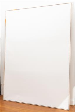 Sale 9239H - Lot 64 - A large timber frame, with primed canvas stretched to fit, 250cm x 180cm.