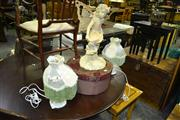 Sale 8093 - Lot 1558 - Pair of Table Lamps, Fairy Figure & Hat Box