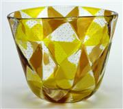 Sale 8139 - Lot 59 - Murano Barovier & Toso Geometric Pattern Bowl