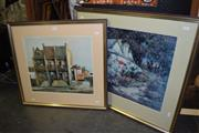Sale 8419T - Lot 2052 - Decorative Print After Sally Herman & Decorative Print After F. Stodelart, framed, various sizes (2)