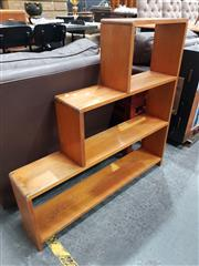Sale 8724 - Lot 1077 - Timber Step Side Bookcase