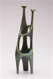 Sale 9044 - Lot 5 - Zsolnay Pecs Eosin Glaze Abstract Figural Group (H: 34.5cm)