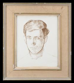 Sale 7923 - Lot 526 - Justin OBrien - Portrait Study of a Boy 30 x 25cm