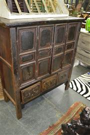 Sale 8079 - Lot 54 - Elevated 2 Bi-Fold Doors Cabinet with Three Drawer