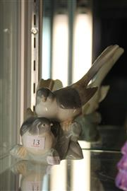 Sale 8189 - Lot 13 - Lladro Avian Figural Group