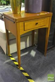 Sale 8227 - Lot 1091 - 1950s Singer Sewing Machine Table