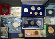 Sale 8465J - Lot 327 - VARIOUS AUSTRALIAN UNCIRCULATED AND PROOF COINS; 1984 1st Year of issue proof $1, 1966 unc. set, 1988 Bicentenary 3 coin set, 4 x $5...