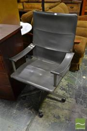 Sale 8499 - Lot 1642 - Polflex Leather Office Chair - Made in Italy