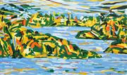 Sale 8558 - Lot 535 - David Van Nunen (1952 - ) - Sydney Harbour 118 x 194cm