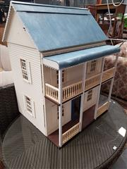 Sale 8745 - Lot 1055 - Large Timber Dolls House
