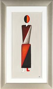 Sale 8906 - Lot 2038 - Artist Unknown (C.W) - Abstract Figure oil on canvas on board, 77 x 34.5cm, initialled -